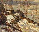 Lake Shore Canoe Lake 1914 - A.Y. Jackson reproduction oil painting