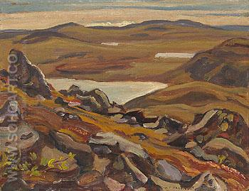 Looking South from Teshierpi Mountain 1950 - A.Y. Jackson reproduction oil painting