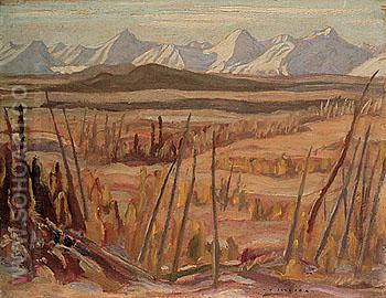 Mountains on the West Side of Haines Road 1943 - A.Y. Jackson reproduction oil painting