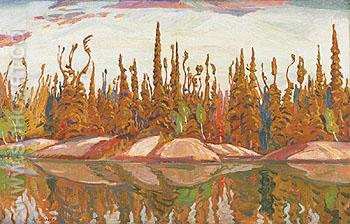 Northern Lake 1928 - A.Y. Jackson reproduction oil painting