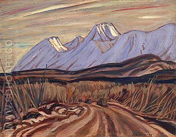The Highway near Kluane Lake 1943 - A.Y. Jackson reproduction oil painting