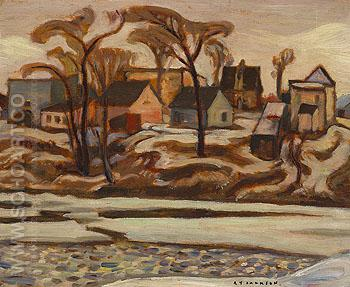 The Yamaska River at Saint Hyacinthe c1934 - A.Y. Jackson reproduction oil painting
