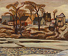 The Yamaska River at Saint Hyacinthe c1934 - A.Y. Jackson