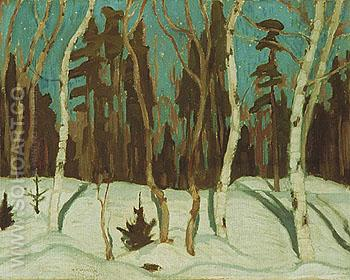 Winter Moonlight 1921 - A.Y. Jackson reproduction oil painting