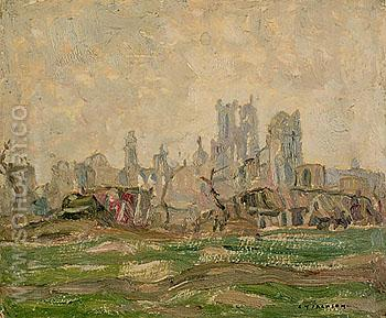 Ypres 1917 - A.Y. Jackson reproduction oil painting