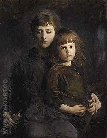 Brother and Sister Mary and Gerald Thayer - Abbott Henderson Thayer reproduction oil painting