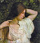 Girl Arranging Her Hair - Abbott Henderson Thayer