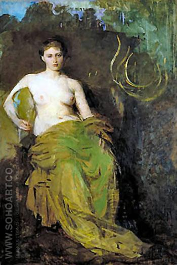 Half Draped Figure - Abbott Henderson Thayer reproduction oil painting