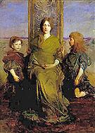 Virgin Enthroned - Abbott Henderson Thayer