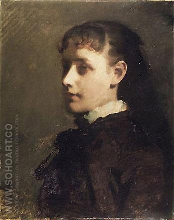 Jessie Jay Burgel c1880 - Abbott Henderson Thayer reproduction oil painting