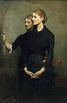 The Sisters c1884 - Abbott Henderson Thayer reproduction oil painting