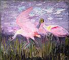 Roseate Spoonbills 1905 - Abbott Henderson Thayer