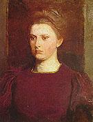 Meditation 1903 - Abbott Henderson Thayer reproduction oil painting