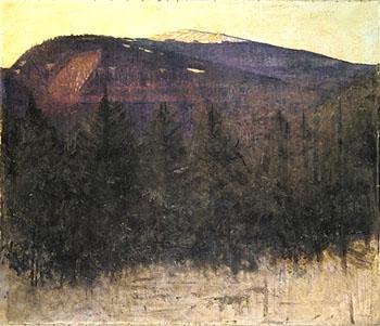 Winter Sunrise Monadnock 1917 - Abbott Henderson Thayer reproduction oil painting