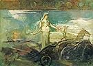 Minerva in a Chaiot c1894 - Abbott Henderson Thayer