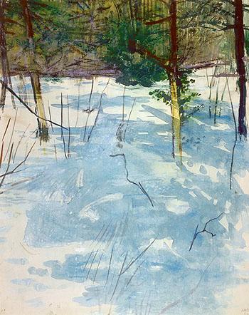 Winter Monadnock c1900 - Abbott Henderson Thayer reproduction oil painting