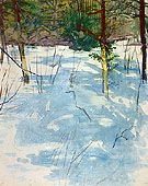 Winter Monadnock c1900 - Abbott Henderson Thayer