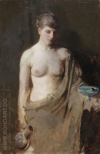 Hebe c1890 - Abbott Henderson Thayer reproduction oil painting