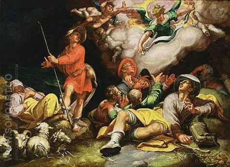Adoration of the Shepherds c1600 - Abraham Bloemaert reproduction oil painting