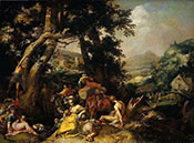 Landscape with the Ministry of John the Baptist c1600 - Abraham Bloemaert