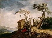 Landscape with the Prophet Elijah in the Desert 1610 - Abraham Bloemaert