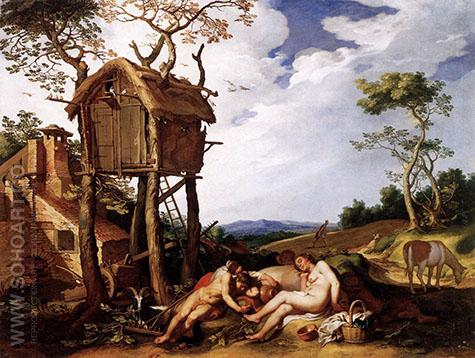 Landscape with the Parable of the Tares Among the Wheat 1624 - Abraham Bloemaert reproduction oil painting