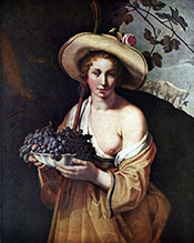 Shepherdess with Grapes 1628 - Abraham Bloemaert
