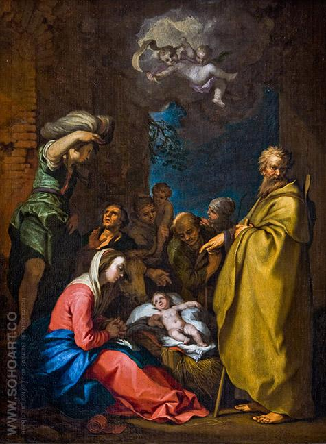 The Adoration of the Shepherds - Abraham Bloemaert reproduction oil painting