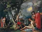 The Baptism of Christ - Abraham Bloemaert