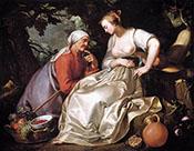 Vertumnus and Pomona 1620 - Abraham Bloemaert