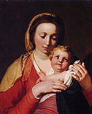 Virgin and Child 1628 - Abraham Bloemaert reproduction oil painting