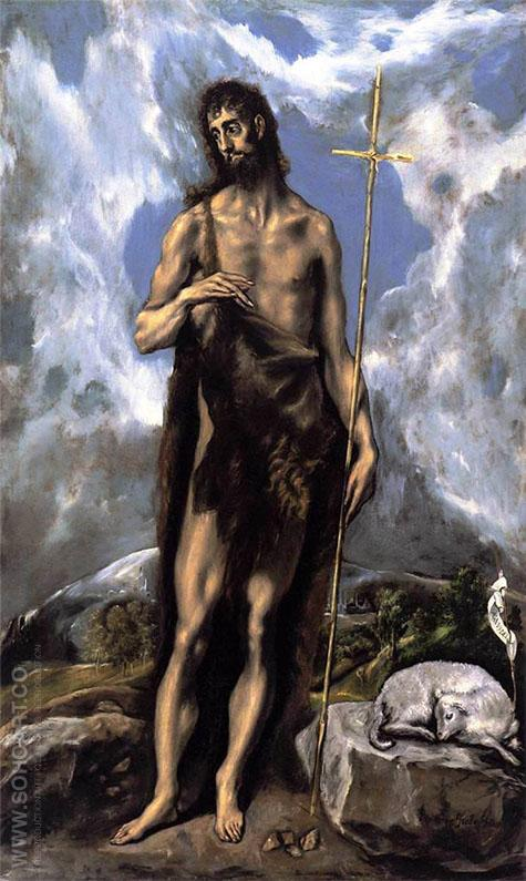 St John the Baptist - El Greco reproduction oil painting