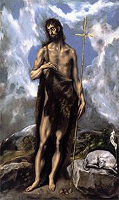 St John the Baptist - El Greco
