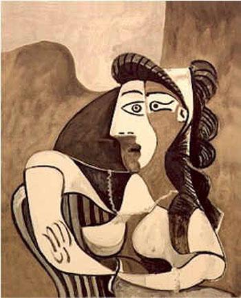 Femme Acoudee au Fauteuil - Pablo Picasso reproduction oil painting