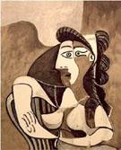 Femme Acoudee au Fauteuil - Pablo Picasso