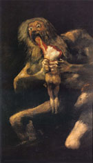 Saturn Devouring his Son - Francisco de Goya ya Lucientes