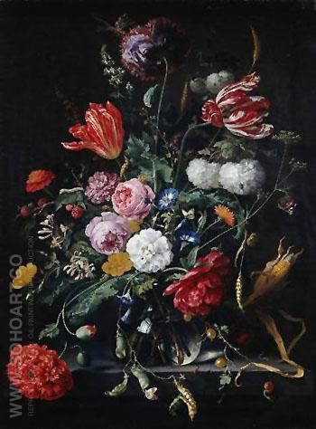 Blumenstuck - Abraham Mignon reproduction oil painting