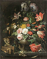 The Overturned Bouquet 1679 - Abraham Mignon reproduction oil painting