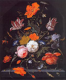 A Still Life of Flowers I - Abraham Mignon