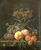 Still Life with Fruits 1660 - Abraham Mignon