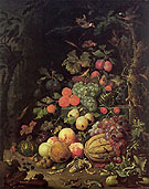 Still Life - Abraham Mignon reproduction oil painting