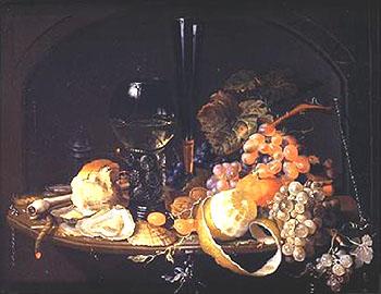 Natureza Morta - Abraham Mignon reproduction oil painting