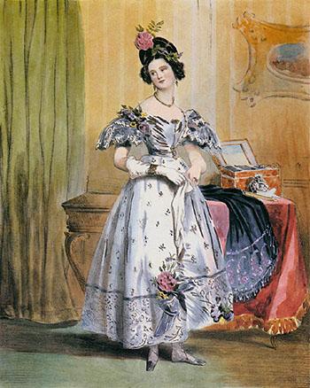 Eleven PM 1831 - Achille Deveria reproduction oil painting