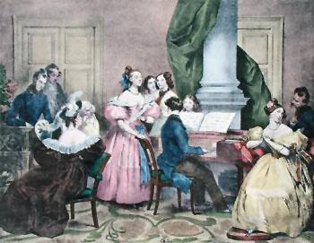 Family Concert - Achille Deveria reproduction oil painting