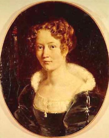 Portrait of Laure - Achille Deveria reproduction oil painting