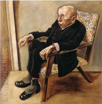 The Writer Max Herrmann Neisse 1925 - George Grosz reproduction oil painting