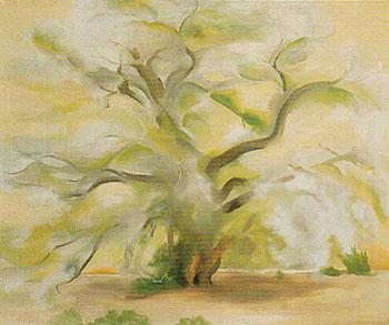 Cottonwoods Near Abiquiu 1950 - Georgia O'Keeffe reproduction oil painting
