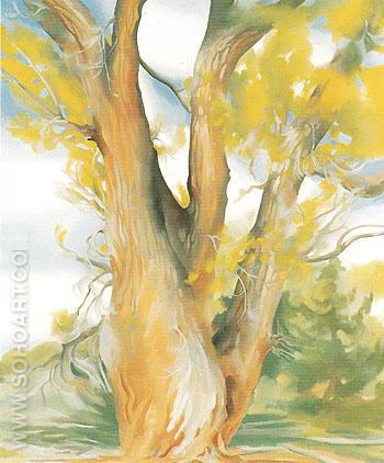 Cottonwood Tree New Mexico 1943 - Georgia O'Keeffe reproduction oil painting