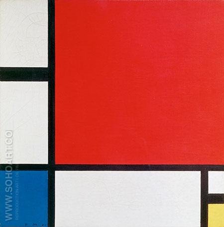 Composition with Red Blue and Yellow 1930 - Piet Mondrian reproduction oil painting