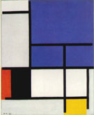 Composition with Large Blue Plane Red Black Yellow and Grey 1921 - Piet Mondrian reproduction oil painting